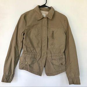 Gap khaki utility jacket- S